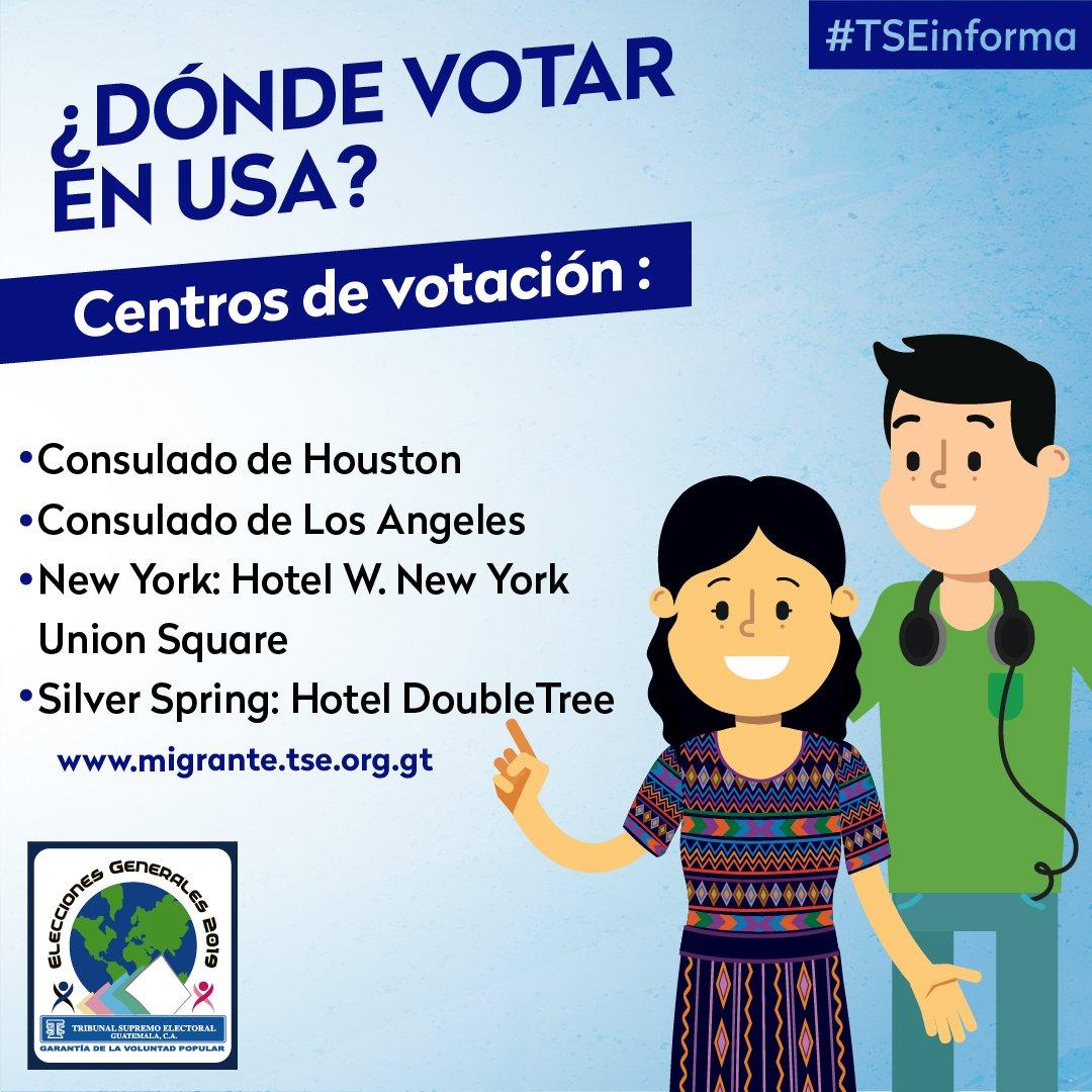 los consulados en Estados Unidos en donde los guatemaltecos podrán votar