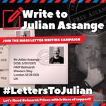 ACTION: Julian Assange needs our help - writing to him with an addressed prestamped UK return envelope is one of the only ways he can write messages out of prison! SEND: https://t.co/vFFIdYFU9V #letterstoAssange #LettersToJulian #writejulian @GordonDimmack @pamfoundation