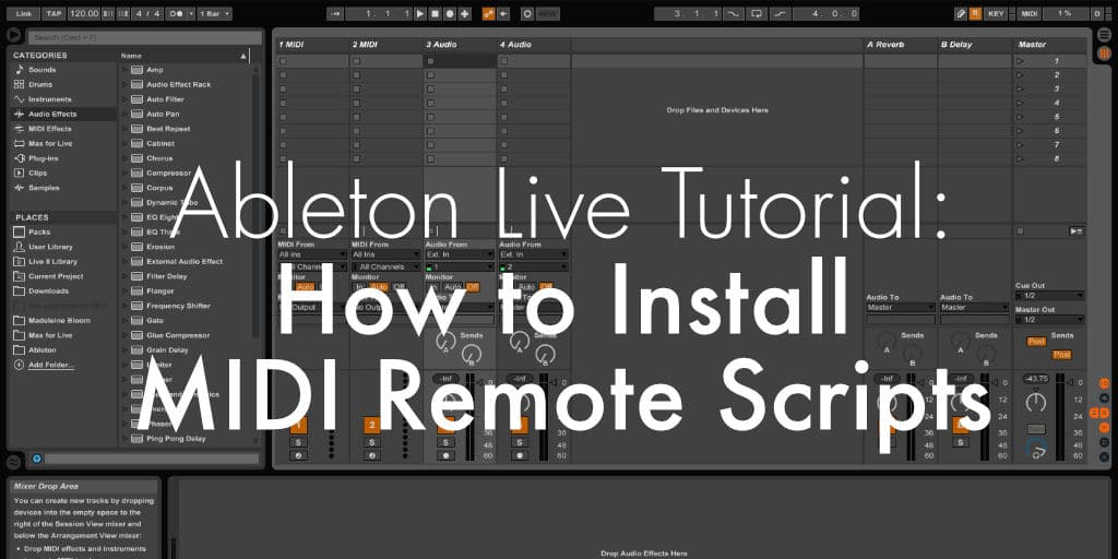 #Ableton Live Tutorial: How to Install MIDI Remote Scripts https://sonicbloom.net/ableton-live-tutorial-how-to-install-midi-remote-scripts/…