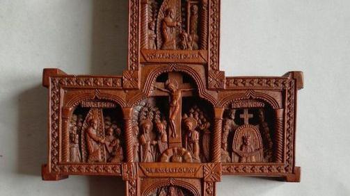 Una croce di epoca post-bizantina al Museo diocesa...