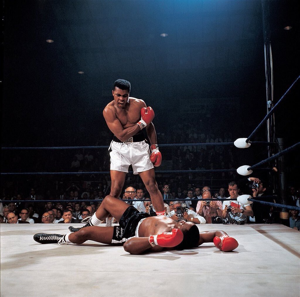 54 years ago today, one of the most iconic photos in sport: Ali vs Liston II, captured by the brilliant Neil Leifer