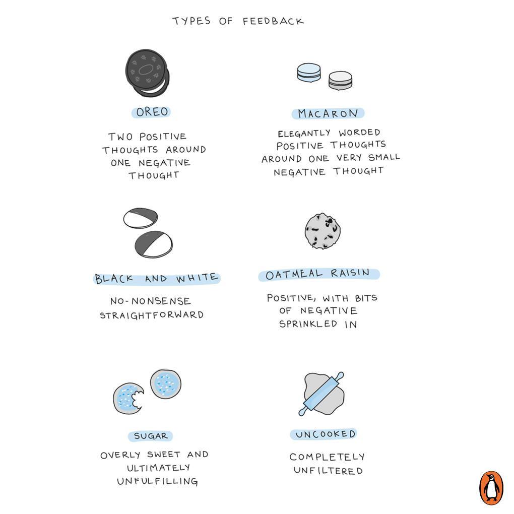 Different types of #feedback from @PenguinUKBooks