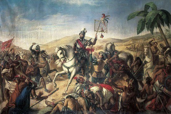 600 years ago in 1519 #HernanCortez & his armies met resistance of 25,000 Tabasco warriors near #Yucatan region ... after the #Spanish routed this native tribe of #Mexico he continued on to begin the #conquest of the  #AztecEmpire 500 Spaniards > power of guns & horses