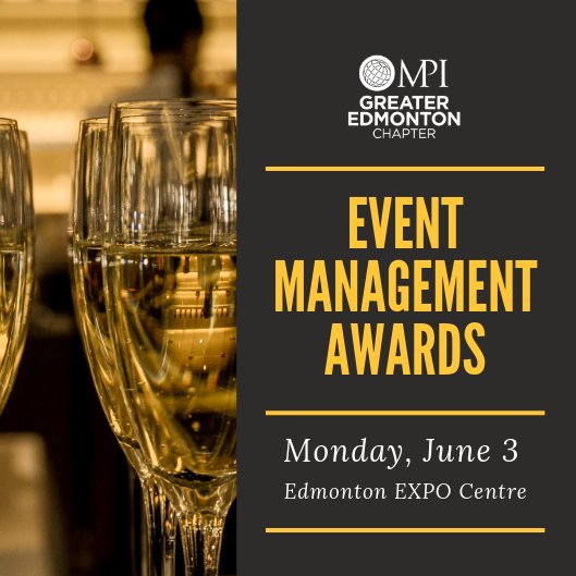 Calling all #yeg #eventprofs -- Join us for an exciting evening  in Vegas  to celebrate the MPI Event Management Awards! Get your 🎟️ today at http://ow.ly/ZoRB50ukvb4  Planner MPI Member $65  Supplier MPI Member $80  Non-Member $95  Table Sponsor $800  #yegemas2019 #yegevents