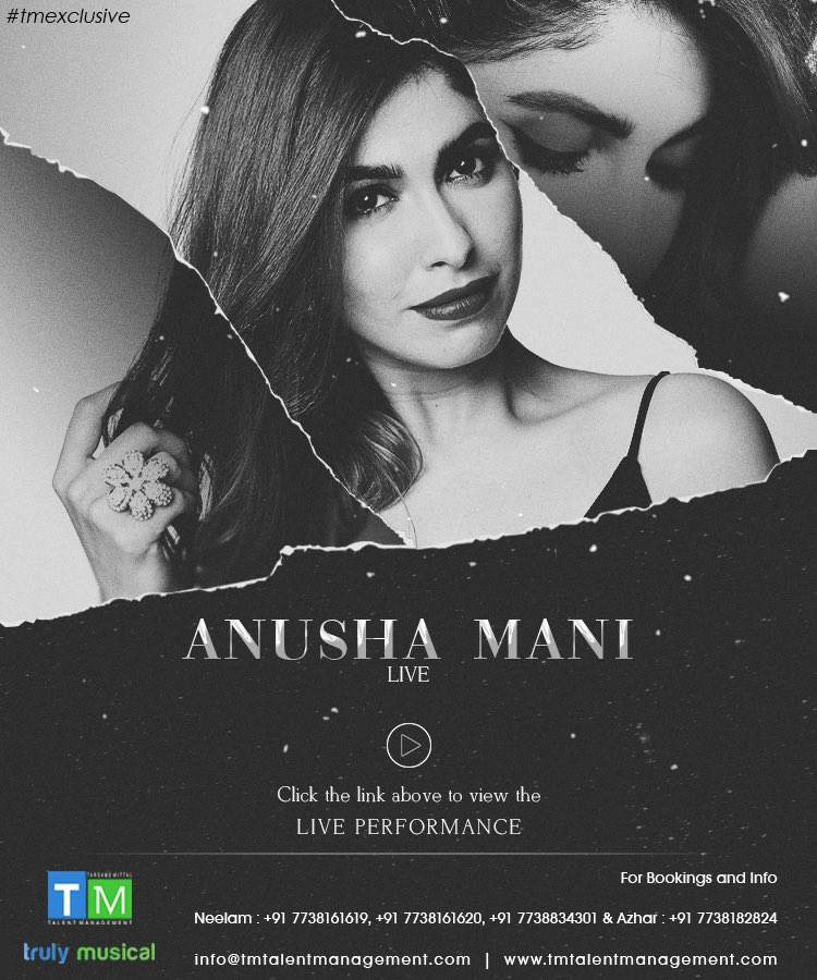 Catch #tmexclusive @AnushaManiMusic's live performance. >>http://bit.ly/AnushaMani__PerformanceVideo …  #AnushaManiLive #Performance #live #Music #singer