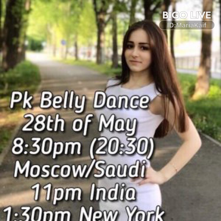 Come and see 🌟 Maria KAIF 🌟's LIVE in #BIGOLIVE: #dance #girl 😍🥰❤️🌹💋   http://www.bigo.tv/sid/2267590775_1862259694_1558788209?c=3&p=2&t=0&b=38609748 …