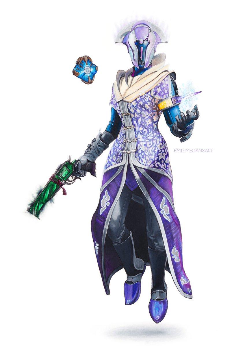 Purple Warlock Drawing