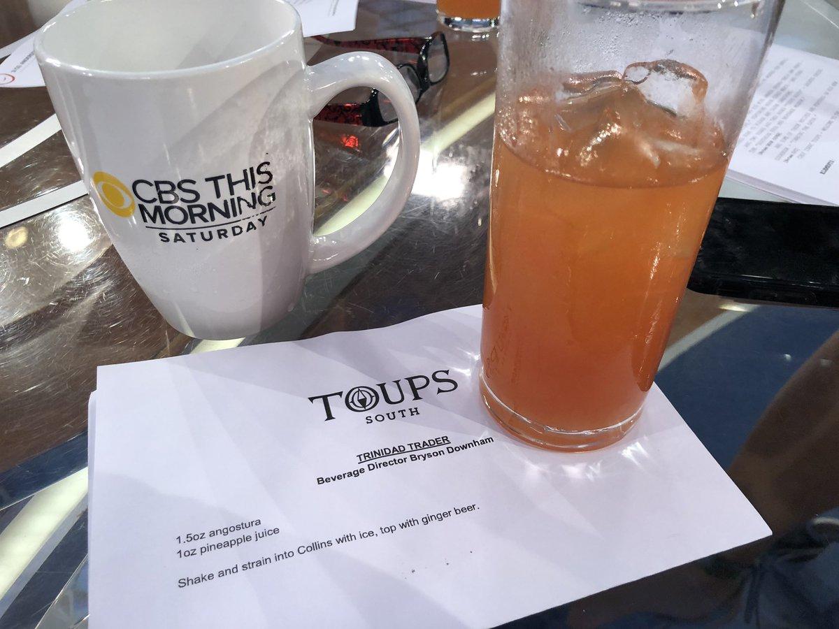 "Recipe for chef @IsaacToups tasty ""Trinidad Trader"" #TheDish @CBSThisMorning Saturday"