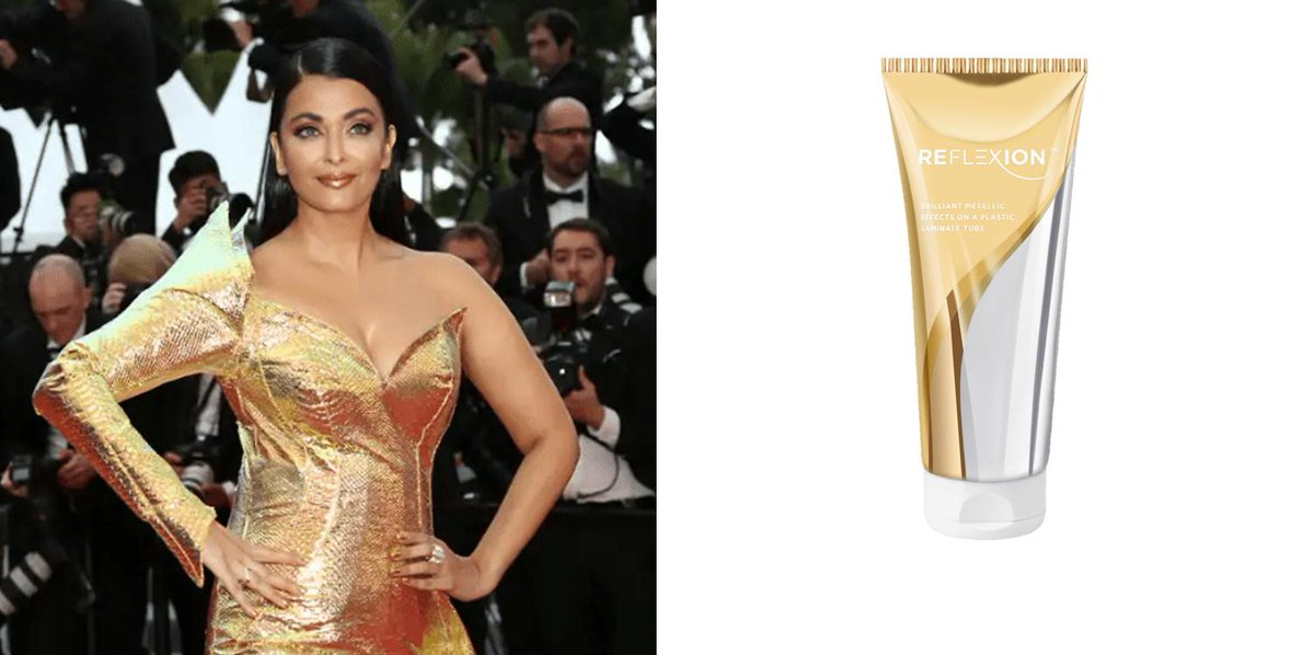 Thanks to Albéa's Reflexion tube, shine bright like #Aishwarya http://ow.ly/IHk230oPa3M  #Bollywood #Cannes2019 #Tube #Packaging #Shine #TapisRouge #RedCarpet  #FilmFestival