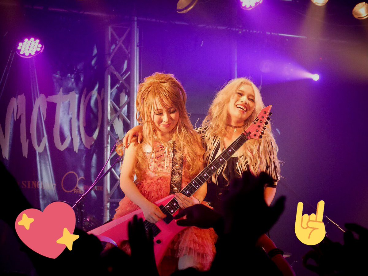 Picture Of The Day 🙋🎸🙋🎤 @aldioustoki @rin_gemie #Aldious #アルディアス #concert #tour #guitarist #singer #picoftheday
