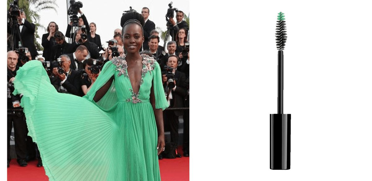 Steal the show like #Lupita with Camelia #Mascara brush from the Jardin Secret Collection by Albéa. Find yours on http://ow.ly/O7VW30oPa1F  #makeup #packaging #Cannes2019 #TapisRouge