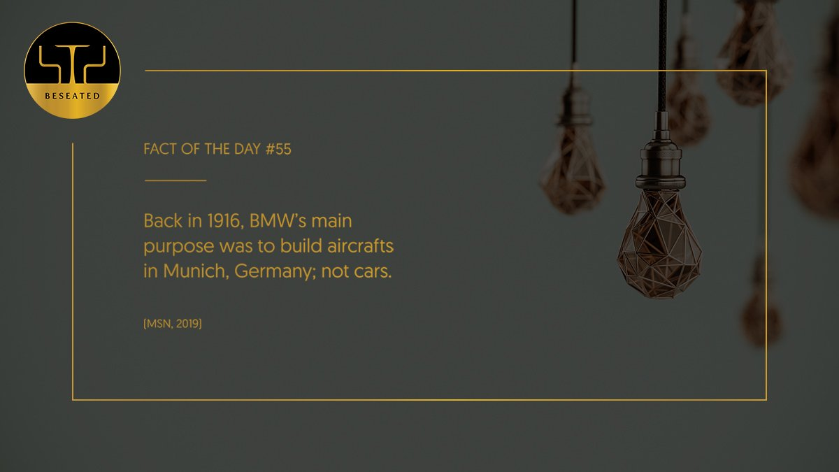 In 1919, due to the Treaty of #Versailles, #BMW was outlawed from building #aircraft engines and went on to build motorcycles as a result.  #BeTreated #luxury #lifestyle #cars #Munich #Germany  #MSN #FactOfTheDay