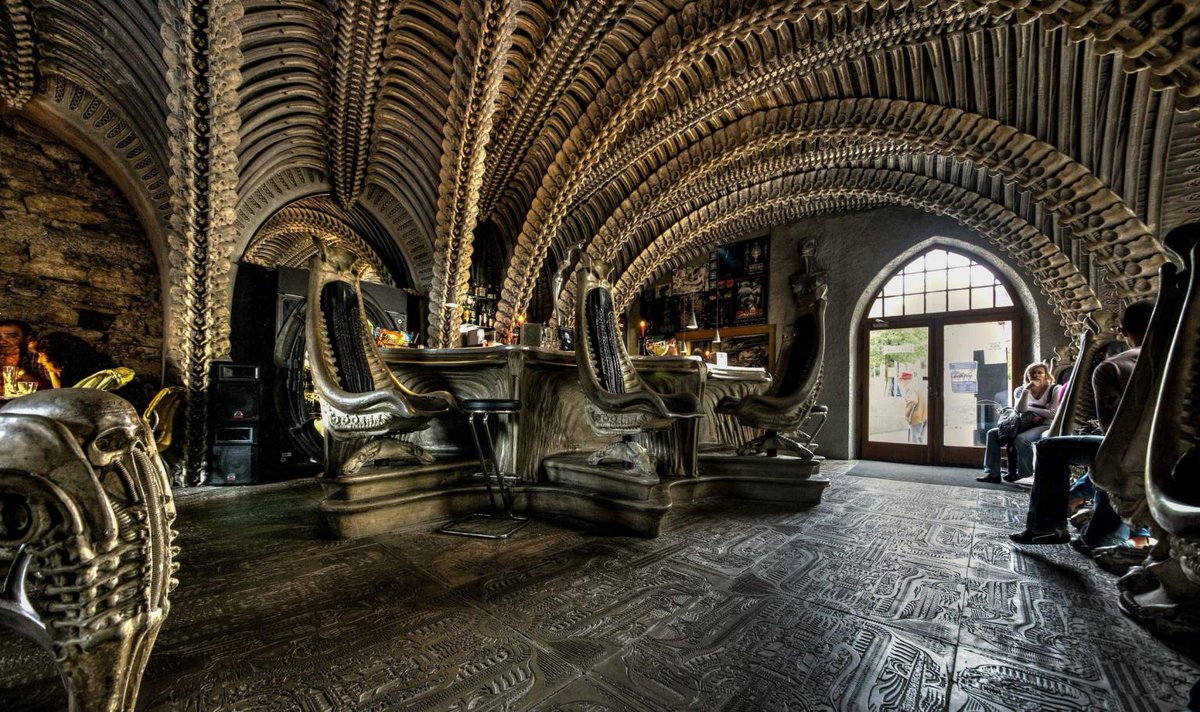 """""""Visited the #Alien Bar in Gruyeres, #Switzerland #Creepy and #Awesome!"""" #travel #world #photography"""