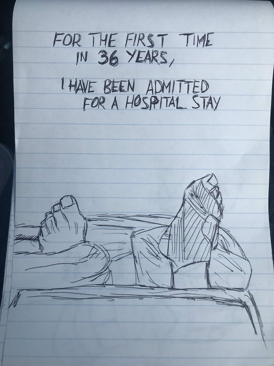 Cleaning out a backpack and found this notepad. I must have been trying to chronicle my time in the hospital but didn't get past the first day🤷🏾‍♂️😂 #compositionbookchronicles #conquesopublishing #cqcomics #hospital #surgery #health #autobiocomics #autobiography #sketch #sketchbook