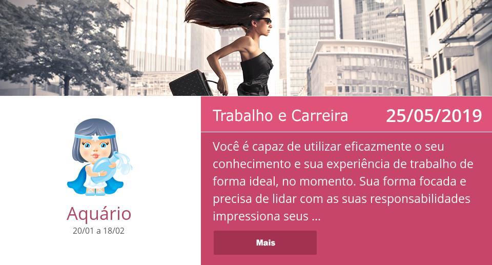 25/05/2019: Trabalho e Carreira => Veja mais: http://x9x.com/pt_aq #Aquário #Horóscopo