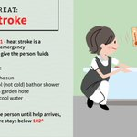 Image for the Tweet beginning: Heat stroke is a medical