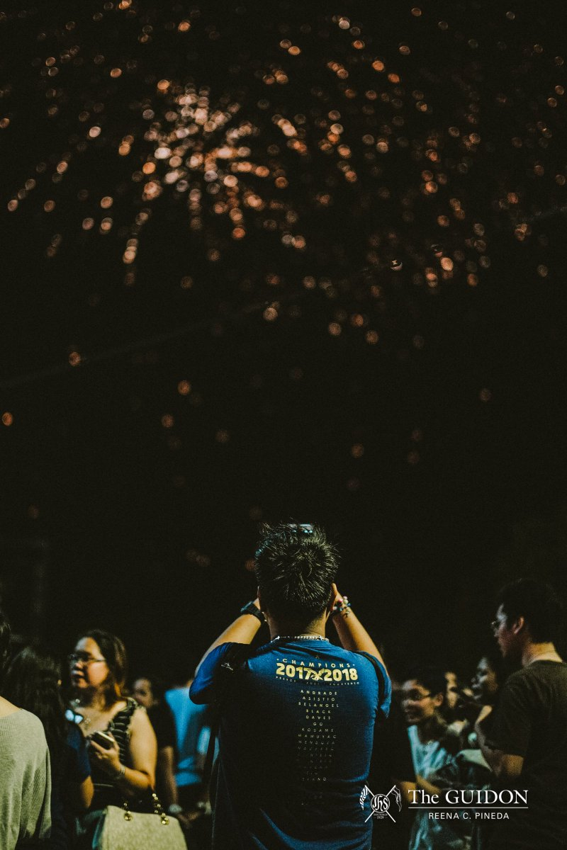 IN PHOTOS: Last May 24, the Ateneo community gathered for its traditional Bonfire, a festive night celebrating the athletes and teams that brought glory to the school in their respective UAAP Season 81 campaigns. tgdn.co/30KS2zd