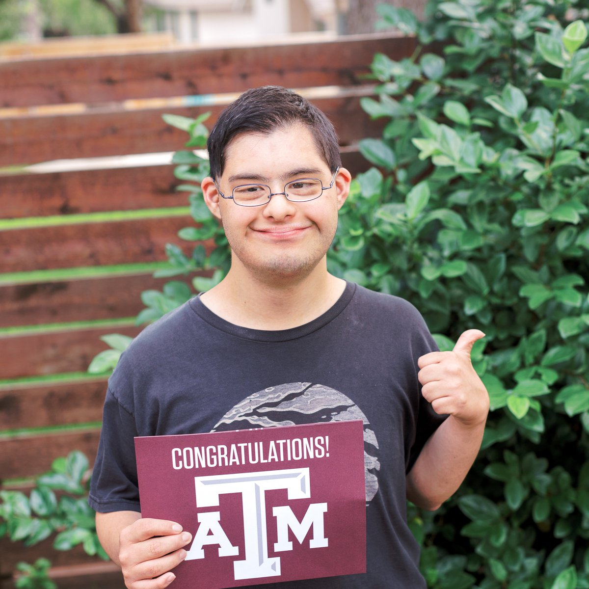 Miguel Gonzalez is #Aggiebound!  #TAMU23  He is 1 of 4 students in our new program,  @aggieachieve! Aggie ACHIEVE is a 4-year inclusive higher ed program for students with developmental &amp; intellectual disabilities, &amp; the first program of its kind in Texas! <br>http://pic.twitter.com/HkteQE0VpT