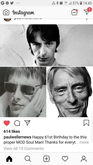 Happy 61st birthday to the man well songs in my life Weller