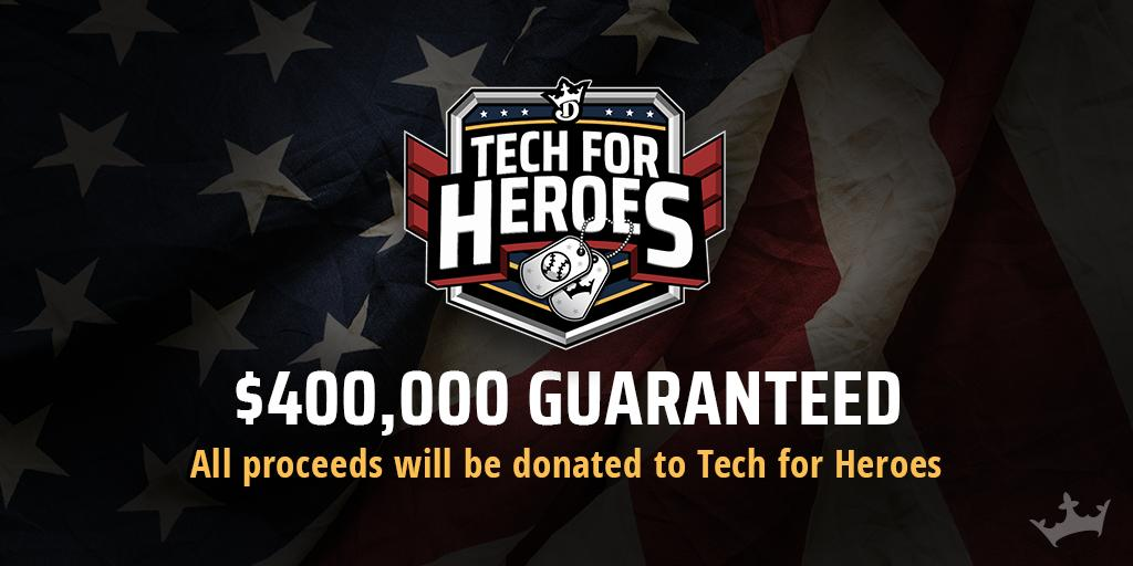 Don't just play for fun, play for good.  Compete on #MemorialDay to support our vets: https://dkng.co/30MCDym #TechForHeroes