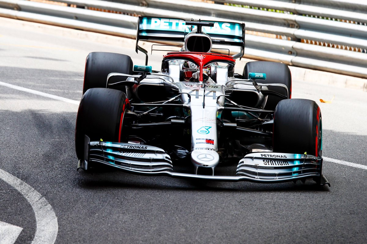 HUGE LAP! Lewis smashes in a late 1:10.166 and takes P1! #MonacoGP