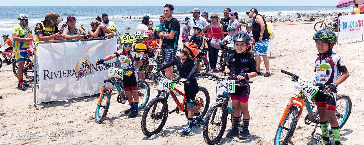 ¡El futuro del #ciclismo en @RivieraNayarit! Hoy no te pierdas el #RivieraNayarit #MountainBike 2019 en #Litibú e #HigueraBlanca. 🚲 🌴   @SECTUR_mx  @SecturNayarit  @LIJACIM  @FonaturMX