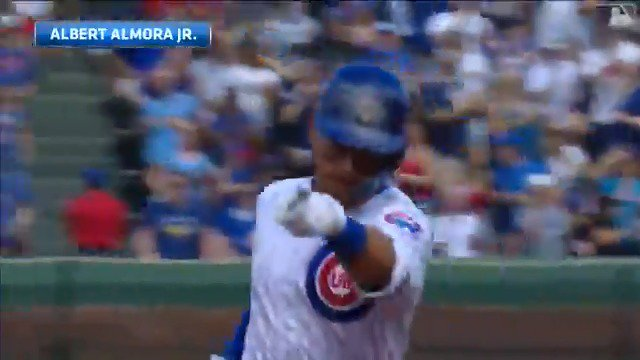 .@albertalmora's 5th home run of the month! #EverybodyIn