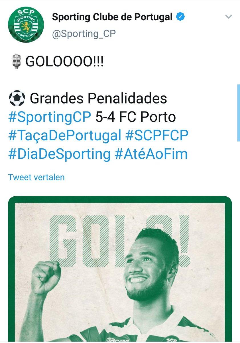 🏆⚽️ Tweede prijs voor Marcel Keizer en Roy Hendriksen met @Sporting_CP. In de Portugese bekerfinale wint hun ploeg na strafschoppen van FC Porto.   Bas Dost miste de eerste strafschop, nadat hij in de verlenging wel voor 2-1 had gezorgd. In de 120ste minuut werd het nog 2-2...