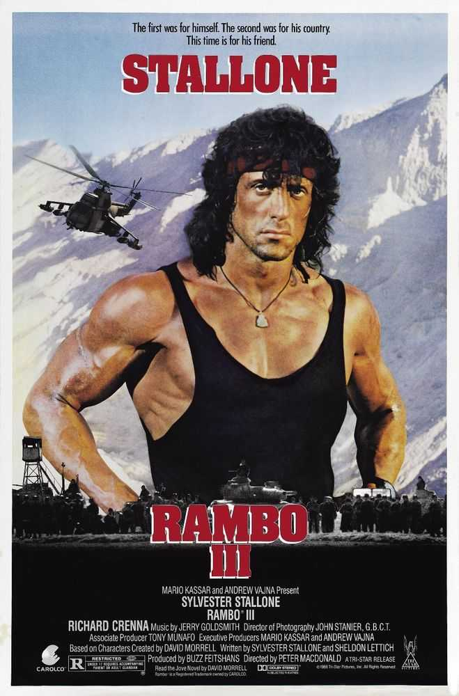 &quot;Rambo III&quot; was released in theatres today in 1988. The film starring Sylvester Stallone was the most expensive film ever made at the time, before being beaten by 1989&#39;s Back to the Future Part II. #80s #80smovies<br>http://pic.twitter.com/XZqc8SgpDn