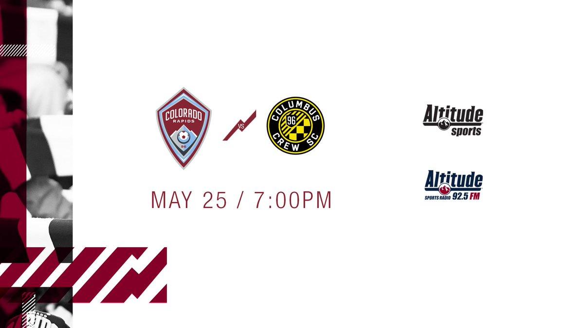Final home game in May, let's make it count.  ⚽️ #COLvCLB 🏟 @DSGpark ⏰ 7:00PM 📺 @AltitudeTV 📻 @AltitudeSR 💻 AltitudeNOW 📝 http://bit.ly/PreCOLvCLB  #Rapids96 | #COLvCLB