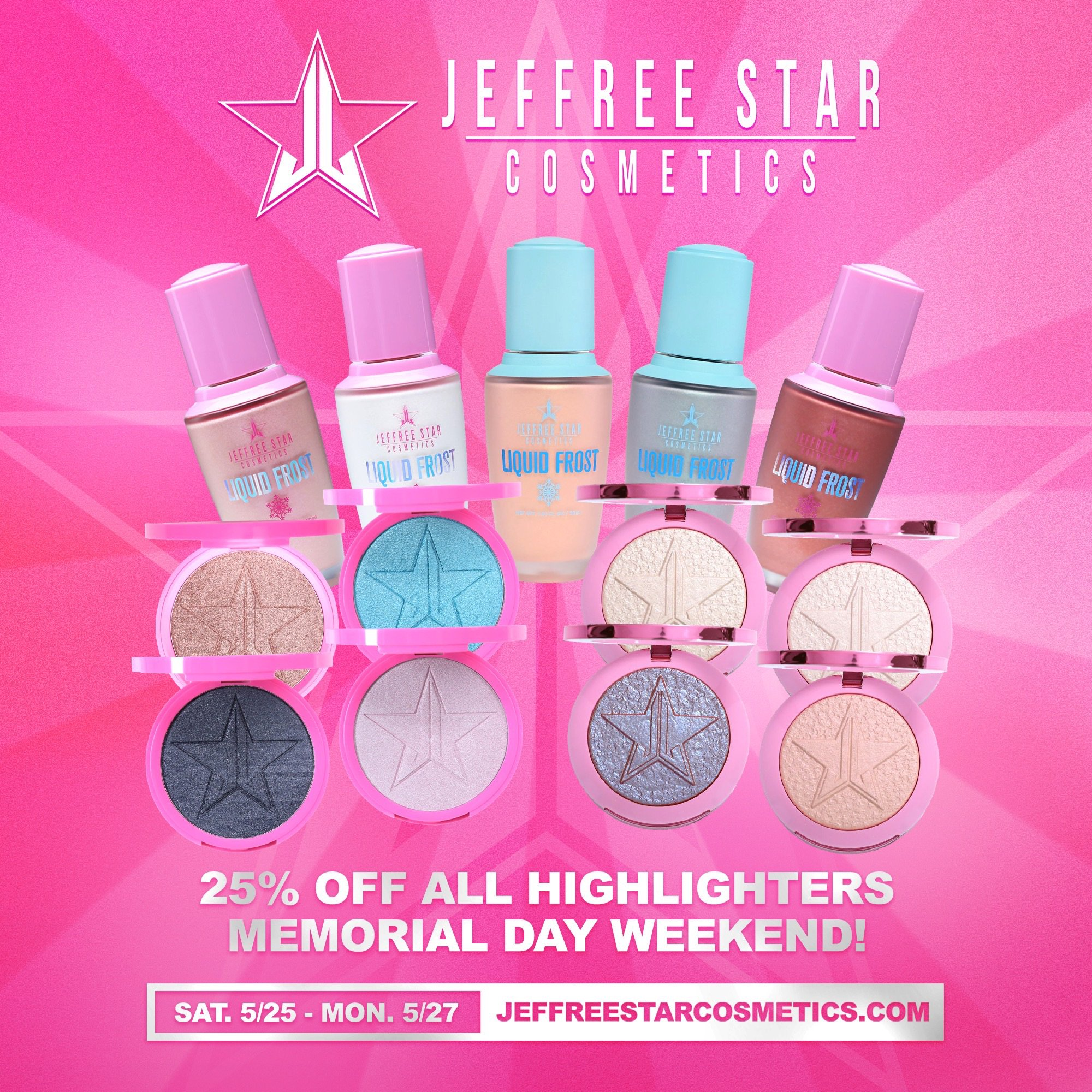 Jeffree Star On Twitter Oh Hiiiiiii Surprise Sale Starting Now Until Monday Night I M Having A 25 Memorialday Discount On Some Major Jsc Makeup And Fashion Items Shop Https T Co Y4dn99vzug Https T Co T5is4hv71z