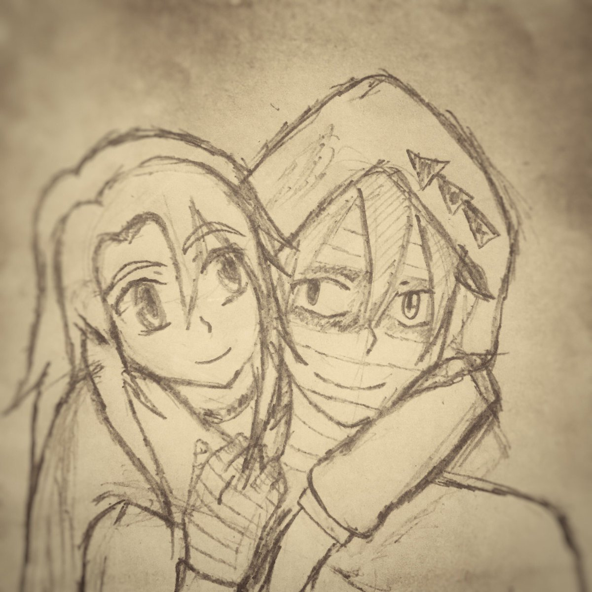 Ok, now I messed up the drawing. 😫😖  #zackxray #satsurikunotenshi #ザックレイ #drawing #殺戮の天使