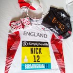 Tomorrow marks the 20th time I've raced for Blighty but the first for England Athletics after selection. Question is are the red and white socks, glasses and hat too much? @TORQfitness #torqfuelled @gllsf