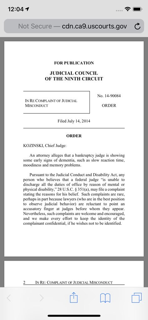 Dear @SpeakerPelosi, Precedent is a bitch. HT @_hublette  cc @POTUS #KAG Where's Ruth, Nancy? http://cdn.ca9.uscourts.gov/datastore/misconduct/14-90084.pdf…