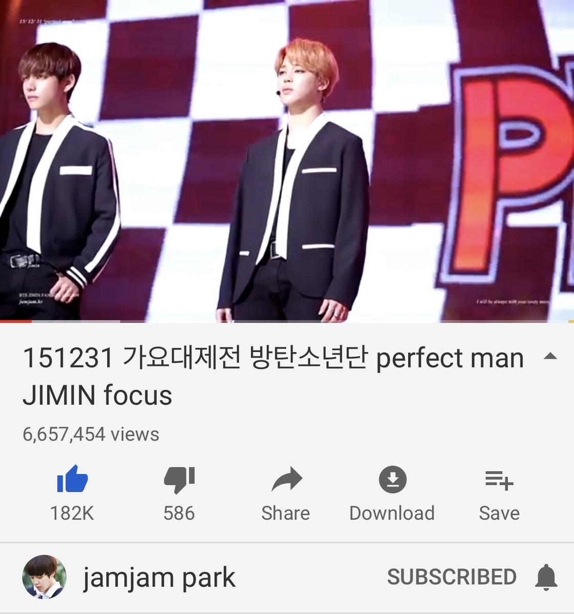 Jimin's top four focus(n/official) cams videos! 1. Perfect Man-6.65m views  https:// youtu.be/pl_39WIvMbY  &nbsp;   2. BWL-6mviews  https:// youtu.be/BSiJdqovrUs  &nbsp;   3. Nanjing NMD-4.92m views  https:// youtu.be/15ndNZW5wic  &nbsp;   4. Pied Piper-4.7m views  https:// youtu.be/cjFnL3KEGWs  &nbsp;   @BTS_twt #지민 #Jimin<br>http://pic.twitter.com/YujMKZA7xH