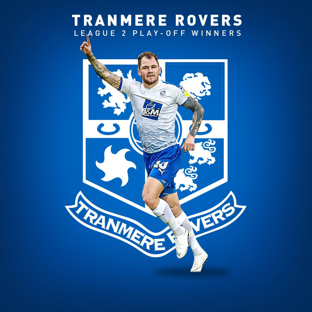 Tranmere Rovers have secured back-to-back promotions for the first time in the club's 135-year history:  2017-18: Playoff winners 🏆 2018-19: Playoff winners 🏆  They love a trip to Wembley.