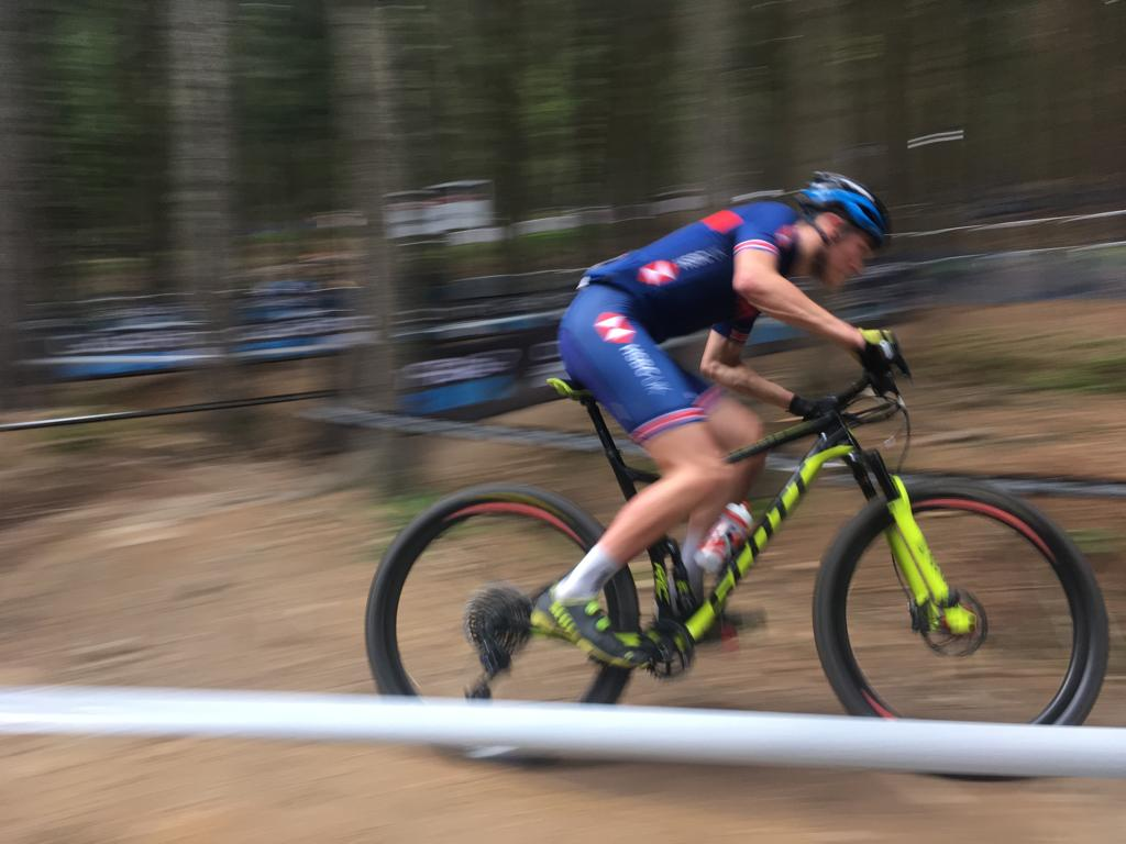 Another week, another win for Charlie Aldridge! 💪  He rode solo round the last lap at the @UCI_MTB Junior World Series event in Nove Mesto to make it two victories in two  Great going, Charlie! 🙌  🇬🇧 Fellow Brit Harry Birchill also came a creditable 16th