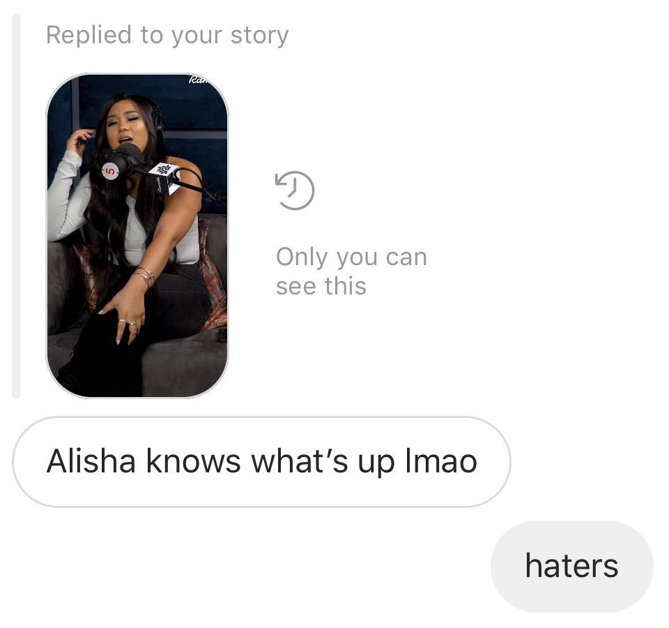 """bumble boy replying to my story of me deeming this summer """"the summer of remi"""" and alisha replying """"isn't every summer the summer of remi?"""" is a big mood lmao"""