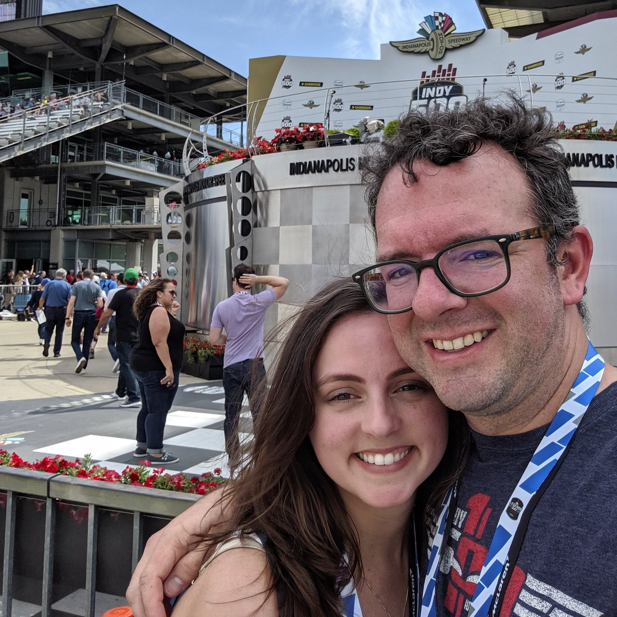 Checking out victory lane with @GoSmile #ShareASmile #ThisIsMay #Indy500
