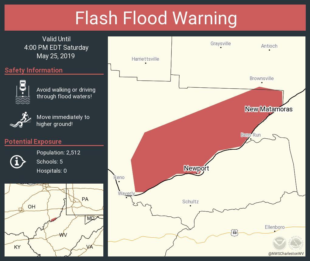 RT NWSFlashFlood: Flash Flood Warning including Newport OH, New Matamoras OH until 4:00 PM EDT <br>http://pic.twitter.com/8fgDLkDjYV