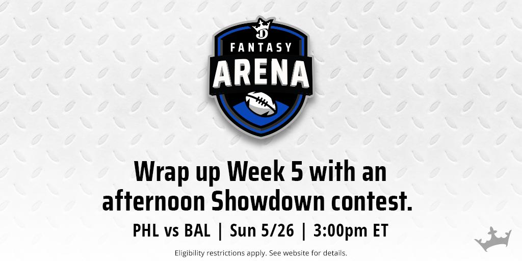 Play the Week 5 @OfficialAFL finale with a Showdown contest for @soulfootball vs @BMOREBRIGADE.  🏈 ➡ https://dkng.co/2K4B7li