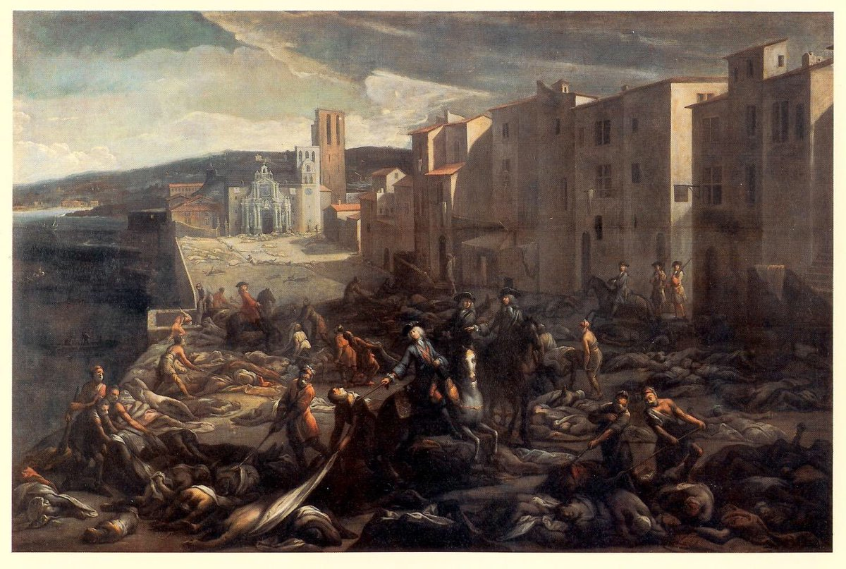 #OnThisDay in 1720, the Plague of #Provence begins when a vessel, the Grand Saint-Antoine, arrives back at the port of #Marseille carrying #plague after spending a year in the Levant (though recent genetic studies may complicate the story). #otd #cejourlà #medhist #disasterhist<br>http://pic.twitter.com/Ie0LcBb5Wb