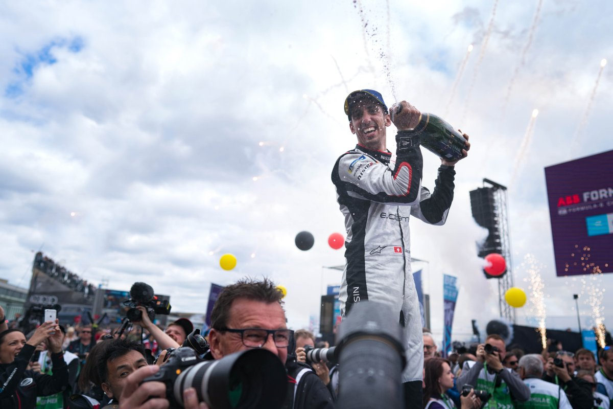 We're off to Switzerland for the #BernEPrix this week. Take a look back at the most recent round for @Nissanedams in Berlin 🏆🍾🎉!-#NissanFormulaE #IntelligentMobility