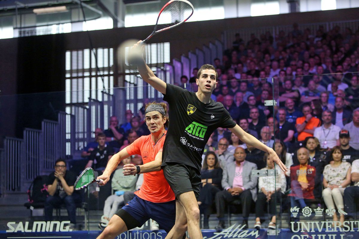 test Twitter Media - World No.1 @AliFarag is into his first British Open final after battling his way past @paulcollsquash in an absolute thriller!  Read all about it here 👇 https://t.co/glSlvX0n5l https://t.co/f9qfPiEprG