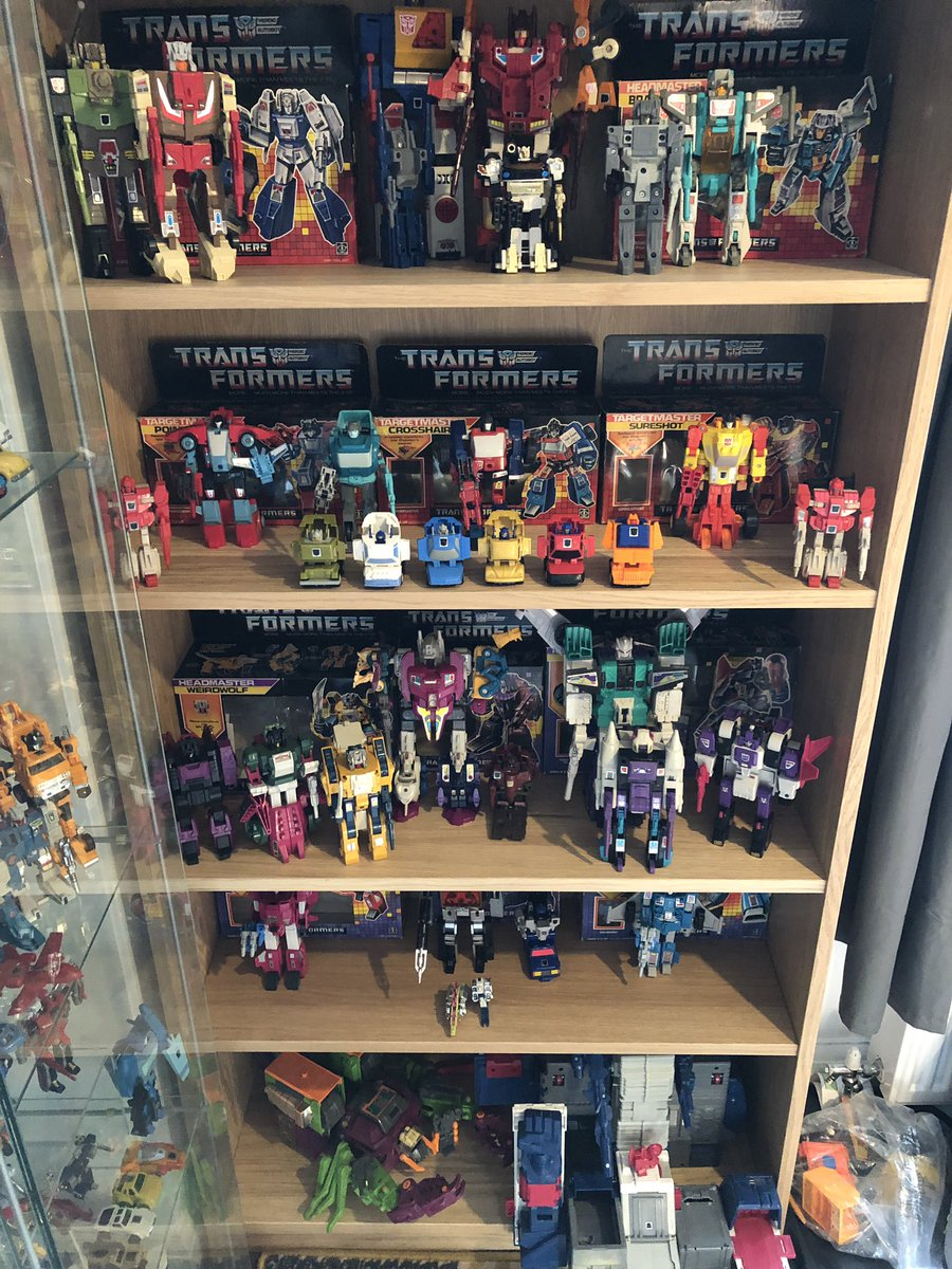 Current status of the #G1 #Transformers 1987 shelf.  Going pretty well for a months focus! #80s #toys #ActionFigures #actionfigurephotography #Hasbro