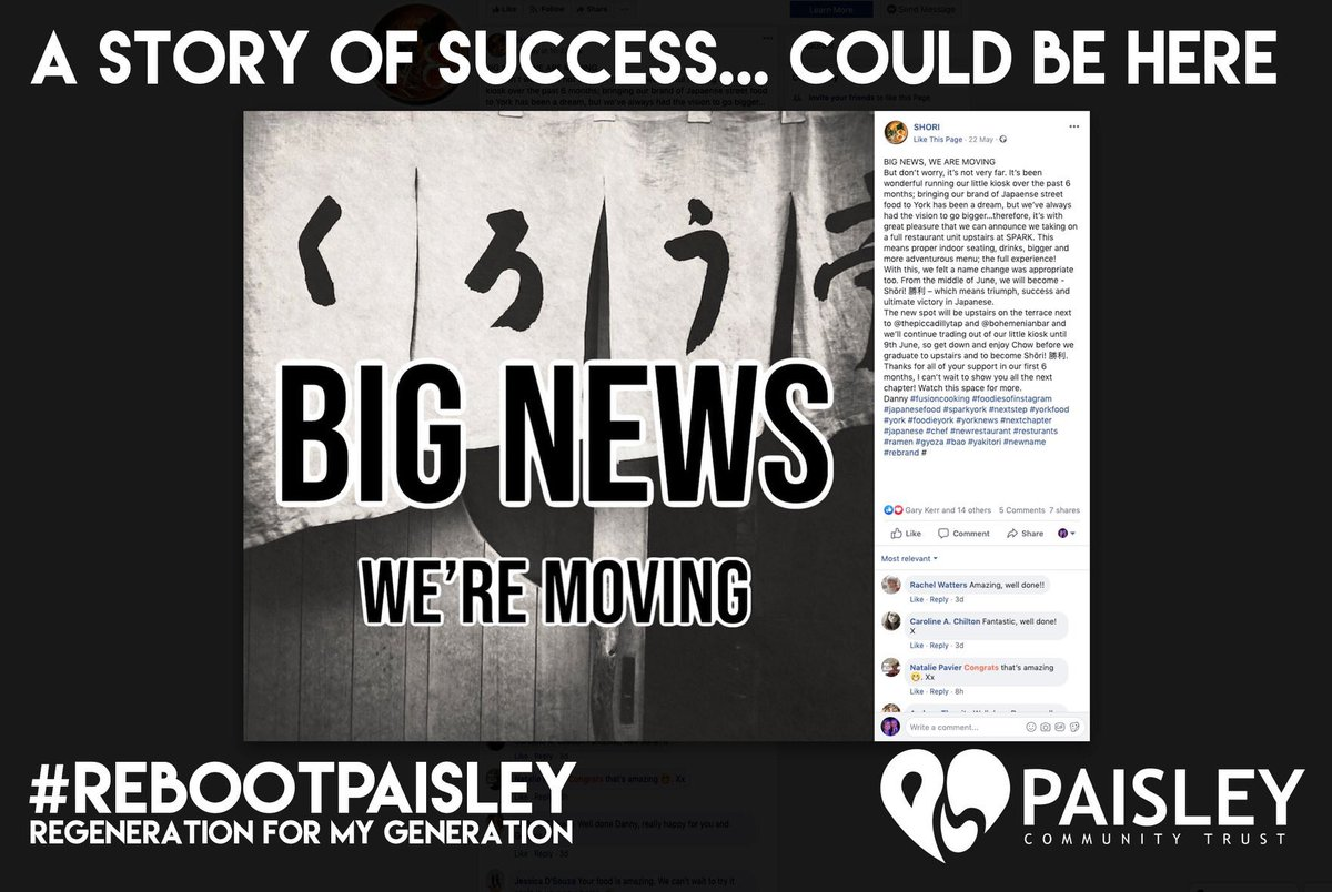 074c626d9 When you support and invest in your #community, creating a place for new  things to grow, amazing things happen. This can be #Paisley!