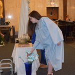 Image for the Tweet beginning: Mary was crowned yesterday by