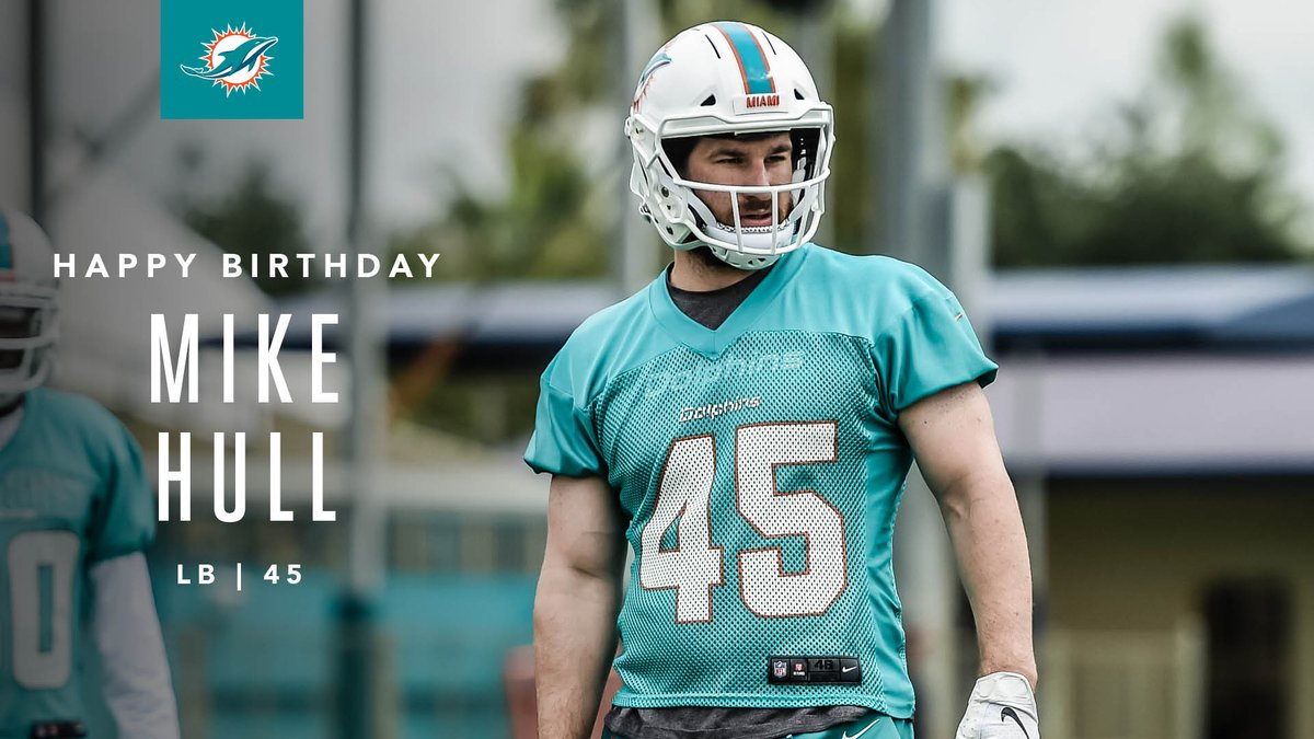 Happy Birthday, Mike Hull!   #FinsUp<br>http://pic.twitter.com/q9tWaAj21m