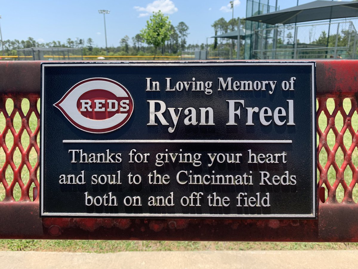 The late Ryan Freel remembered here in Ponte Vedra. Part of the Jacksonville pipeline to the @MLB @Reds - loved how he played the game.