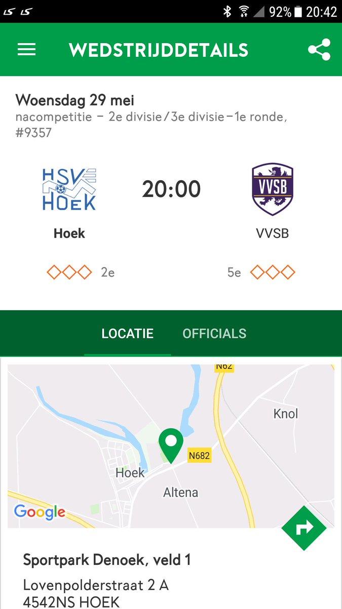 De bevestiging van de KNVB. Woensdag in Hoek om 20 uur, zaterdag de return in Noordwijkerhout om 15.30 uur.  #hoevvs